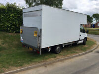 14ft Luton van with tail lift available for collections and deliveries nationwide for Norfolk