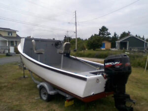 20 Ft. Cape with 75 Hp. Motor and Galvanized Trailer