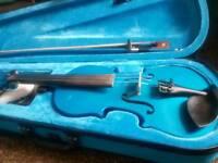 Matalic Blue Violin