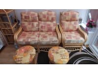 Wicker Conservatory Furniture 6 items in total