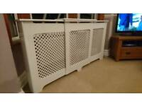 Radiator Cabinet White Adjustable