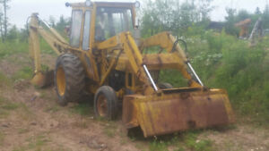 parting out  diesel ford 4500 backhoe