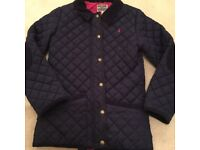 Girls Navy Joules coat - Age 11 - 12 in excellent condition