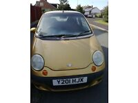 2001 daewoo matiz car for sale