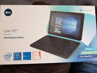Linx 1020 tablet with keyboard dock