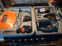 black and Decker quattro 3 in 1 drill sander jigsaw