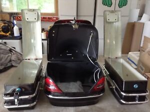 Brand new. Motorcycle trunk and side bags