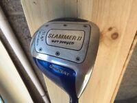 Set men's golf clubs with bag. Mixture of big berther, Donnay, Tileist, Spalding