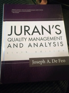 Juran's quality management and analysis textbook for sale