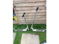 2 Metal Foldable Scooters In Good Condition