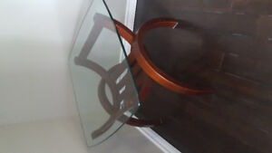 Glass coffee table,sofa table, and end table for sale.