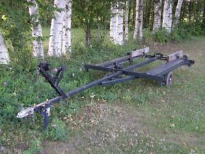 motor canoe trailer