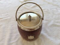 Vintage wooden ice bucket by H.C&Co.S