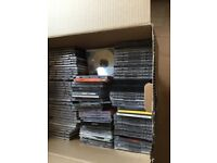 Box of music CDs, laptop case, chocolate fountain, portable TV - ideal for car booter