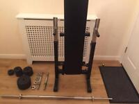 Folding bench and weights