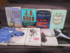 Assorted Fiction Books - New, on Choice - $5.00 ea.