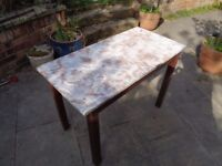 MARBLE TOP GARDEN TABLE £50 MAIDSTONE