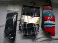 NEW STILL BOXED MENS SOCKS/ SPORTS SOCKS/ AND BOXERS
