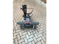 Motocaddy S1 with brolly holder