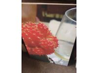 Signed Wine O'Clock Oil Canvas Picture 70cm X 45cm