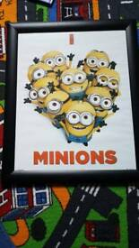 Minion picture with frame.