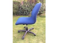 office chairs blue and purple, Solid wood natural light wood bureau, pedestal