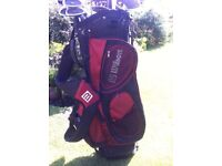Wilson golf bag and full set of clubs