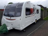 Bailey Unicorn Valencia series 3 caravan, 2016, 4 berth. One owner, used once, as new