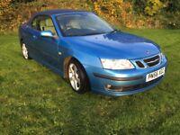 Saab 9.3 1.9 Tdi diesel vector convertible 2006 (56) blue metallic/blue hood