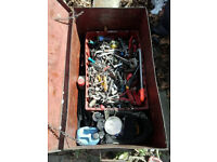 Toolbox with lots of motor tools chest