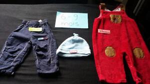 37 morceaux linge bébé garcon( lots des 7 photos de vetement)10$