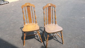 Wooden 'Bass River' chairs