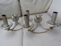 PAIR OF MARKS & SPENCER ANTIQUE BRASS STYLE ORNATE WALL LIGHTS LIGHTING LOVELY CRAFTED ANTIQUE LOOK