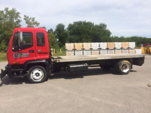1997 GMC T6500 Flatbed Truck