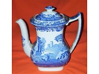 Spode 1970s Country Style Coffee Pot with an Italian Design Made in England 0.9L