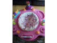 Bright Stars Sweet Safari Bounce-A-Round Baby Activity Centre (Pink)
