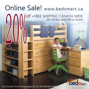 SALE 20%OFF+ FREE SHIPPING CANADA WIDE__SOLID WOOD LOFT&BUNK BED