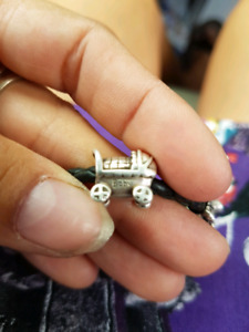 Authentic Pandora 925 Silver baby carriage charms