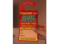 Reading festival Car Park Pass for Sunday