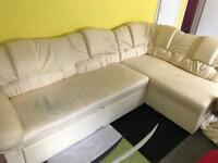 Cream corner sofa