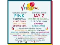 2 or 4 (2 x pair) Full weekend red Camping V Festival tickets @ Hylands Park, Chelmsford, Essex