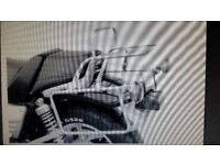 Yamaha V-Max pannier rails and rack in chrome, very good condition, by Hepco and Becker.