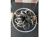 Fascinator - black and cream - £4.00