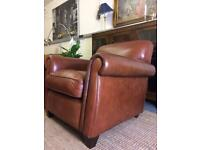 Laura Ashley Exmoor leather armchair