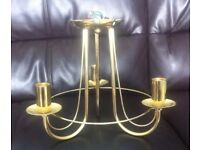 3xGorgeous Golden BHS Chandeliers,mint condition,like new