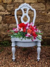 Dining chair planters