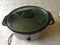 Used once slow cooker, oval crock inside,