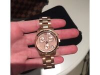 Rose gold women's Michael Kors watch