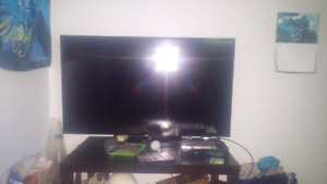 49 inch samsung tv with remote and cables