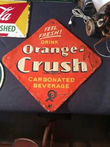 1930S ORANGE CRUSH SIGN